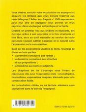 1001 Expressions Pour Tout Dire En Espagnol - 4ème de couverture - Format classique