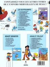 Les schtroumpfs t.18 ; docteur schtroumpf - 4ème de couverture - Format classique