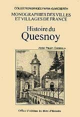 Histoire du quesnoy - Couverture - Format classique