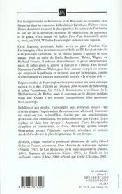 Wilhelm Furtwangler - 4ème de couverture - Format classique