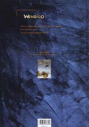 Wendigo t.2 ; faux soleils - 4ème de couverture - Format classique