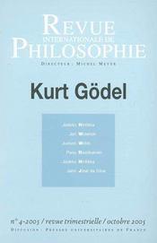 Revue Internationale De Philosophie N.234 ; Kurt Godel - Intérieur - Format classique