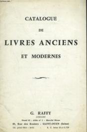 Catalogue De Livres Anciens Et Modernes - Couverture - Format classique
