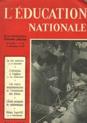 L'Education Nationale N°34 - Couverture - Format classique