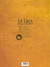 Le legs de l'alchimiste t.1 ; Joachim Overbeck - 4ème de couverture - Format classique