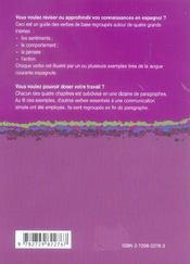 Le Dico-Verbes Espagnol 600 Verbes Classes Par Themes Et En Contexte - 4ème de couverture - Format classique