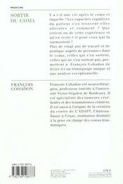 Sortir Du Coma - 4ème de couverture - Format classique