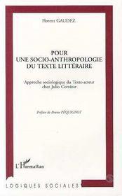 Pour Une Socio-Anthropologie Du Texte Litteraire - Intérieur - Format classique