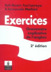 Grammaire explicative de l'anglais ; exercices - Intérieur - Format classique