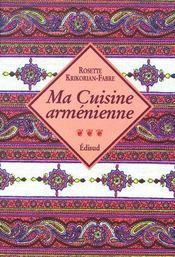 Ma cuisine arménienne - Couverture - Format classique