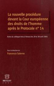 La nouvelle procédure devant la cour européenne des droits de l'homme après le protocole n°14 - Couverture - Format classique