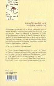 Manuel du parfait petit secrétaire commercial - 4ème de couverture - Format classique