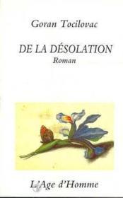 De La Desolation - Couverture - Format classique