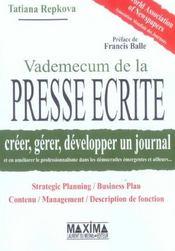 Vademecum De La Presse Ecrite - Intérieur - Format classique