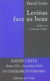 Levinas Face Au Beau - Intérieur - Format classique