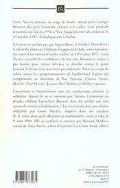 Brassens, delit d'amitie - 4ème de couverture - Format classique