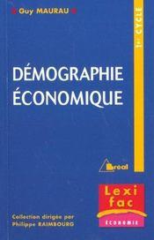 Démographie économique - Intérieur - Format classique