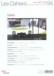 Cahiers Du Musee National D'Art Moderne N.94 ; Hiver 2005-2006 - 4ème de couverture - Format classique