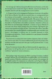 Dragon De Jade - Les Enseignements Sexuels Du... - 4ème de couverture - Format classique