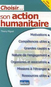 Choisir son action humanitaire - Intérieur - Format classique