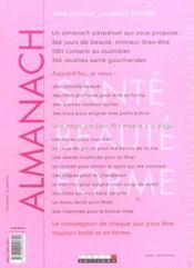 Almanach Sante Beaute Forme - 4ème de couverture - Format classique