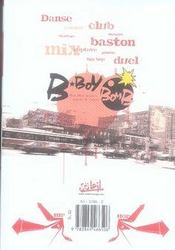 B-boy bomb t.1 - 4ème de couverture - Format classique