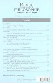 L'ontologie - 4ème de couverture - Format classique