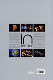 In'Sense - Recettes Cocktails Et Snacking - 4ème de couverture - Format classique