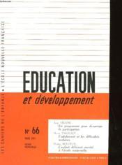 Education Et Developpement N°65 - Couverture - Format classique