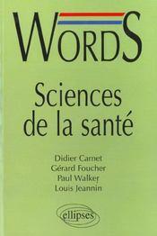 Words Sciences De La Sante - Intérieur - Format classique