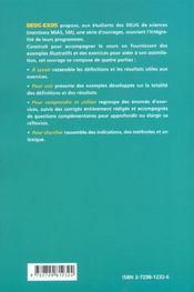 Mathématiques ; DEUG sciences et technologie ; 2e année - 4ème de couverture - Format classique
