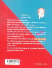 Le Portugais En Un Clin D'Oeil - 4ème de couverture - Format classique