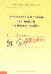 Introduction à la théorie des langages de programmation - Intérieur - Format classique