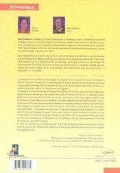 Introduction à la théorie des langages de programmation - 4ème de couverture - Format classique