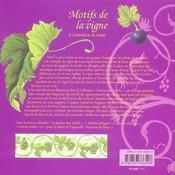 Motifs De La Vigne A Connaitre Et Creer - 4ème de couverture - Format classique