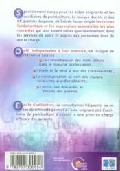 Le lexique des aides-soignants et des auxiliaires de puériculture (3e édition) - 4ème de couverture - Format classique