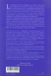 Chemins de la cabale ; vingt-cinq études sur la mystique juive - 4ème de couverture - Format classique