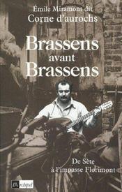 Brassens Avant Brassens - Intérieur - Format classique