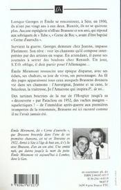 Brassens Avant Brassens - 4ème de couverture - Format classique