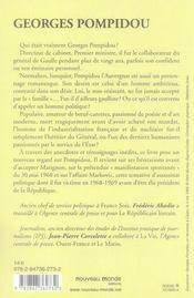 Georges Pompidou (1911-1974) - 4ème de couverture - Format classique