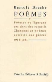Poemes t.5 - Couverture - Format classique
