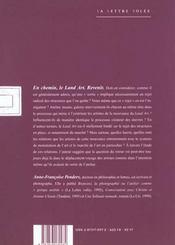 En Chemin-Le Land Art/Revenir - 4ème de couverture - Format classique
