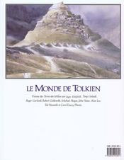 Le monde de Tolkien - 4ème de couverture - Format classique