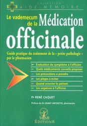 Vademecum De La Medication Officinale - Intérieur - Format classique