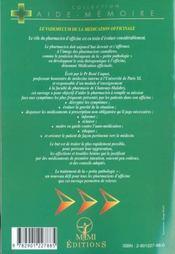 Vademecum De La Medication Officinale - 4ème de couverture - Format classique