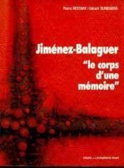 Jimenez balaguer - Couverture - Format classique