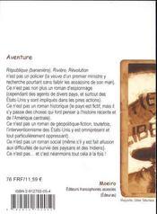 Republique (bananiere) riviere revolution - 4ème de couverture - Format classique