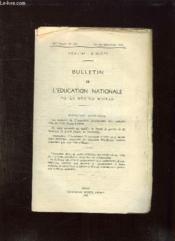 Bulletin De L Education Nationale De La Region D Oran. - Couverture - Format classique