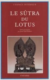 Le Sutra Du Lotus - Couverture - Format classique