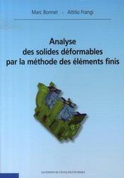 Analyse des solides déformables par la méthode des éléments finis - Intérieur - Format classique